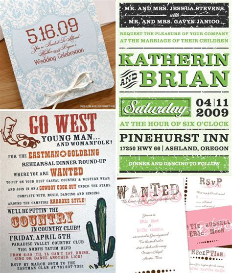 Western Themed Wedding Invitations ? Brenda's Wedding Blog