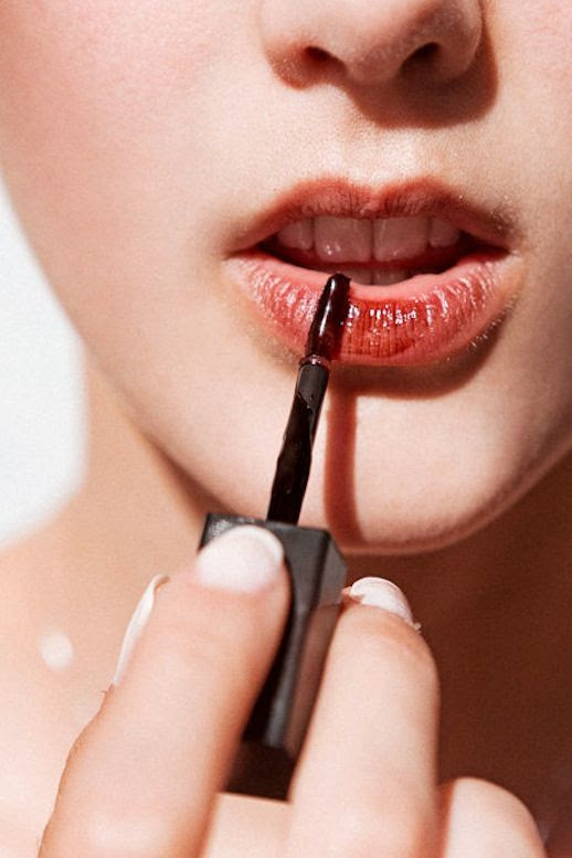 Le Fashion Blog Easy Fall Makeup Style Deep Red Lip Stain Via Into The Gloss