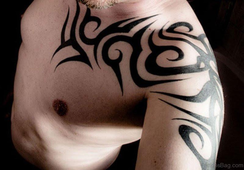40 Likable Tribal Shoulder Tattoo Designs