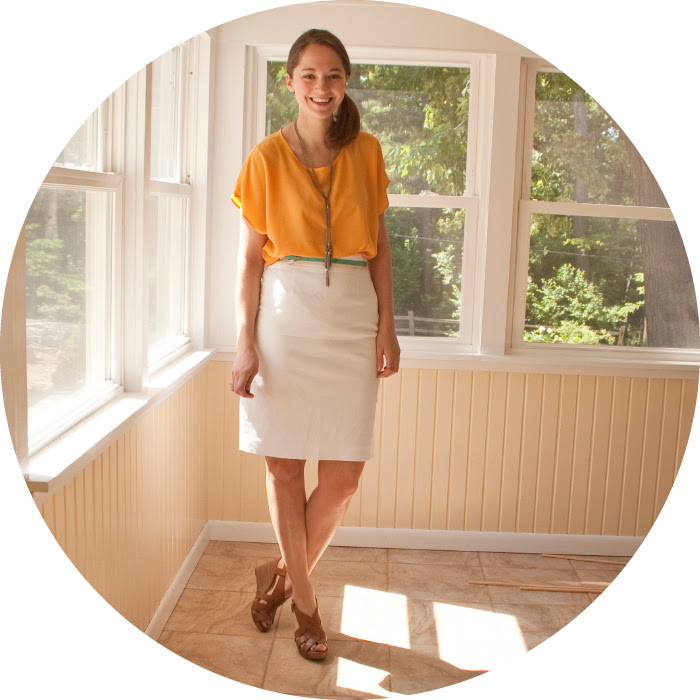 yellow and white dash dot dotty fashion blog outfit post pencil skirt sidepony side-pony turquoise belted spring style trends