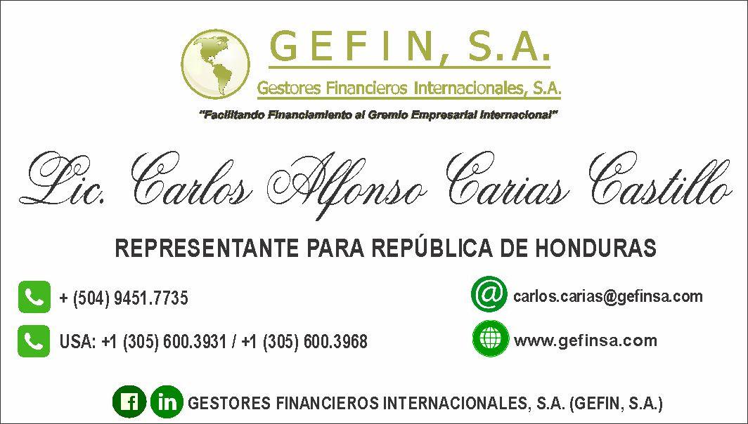 HONDURAS: (CARLOS CARIAS)