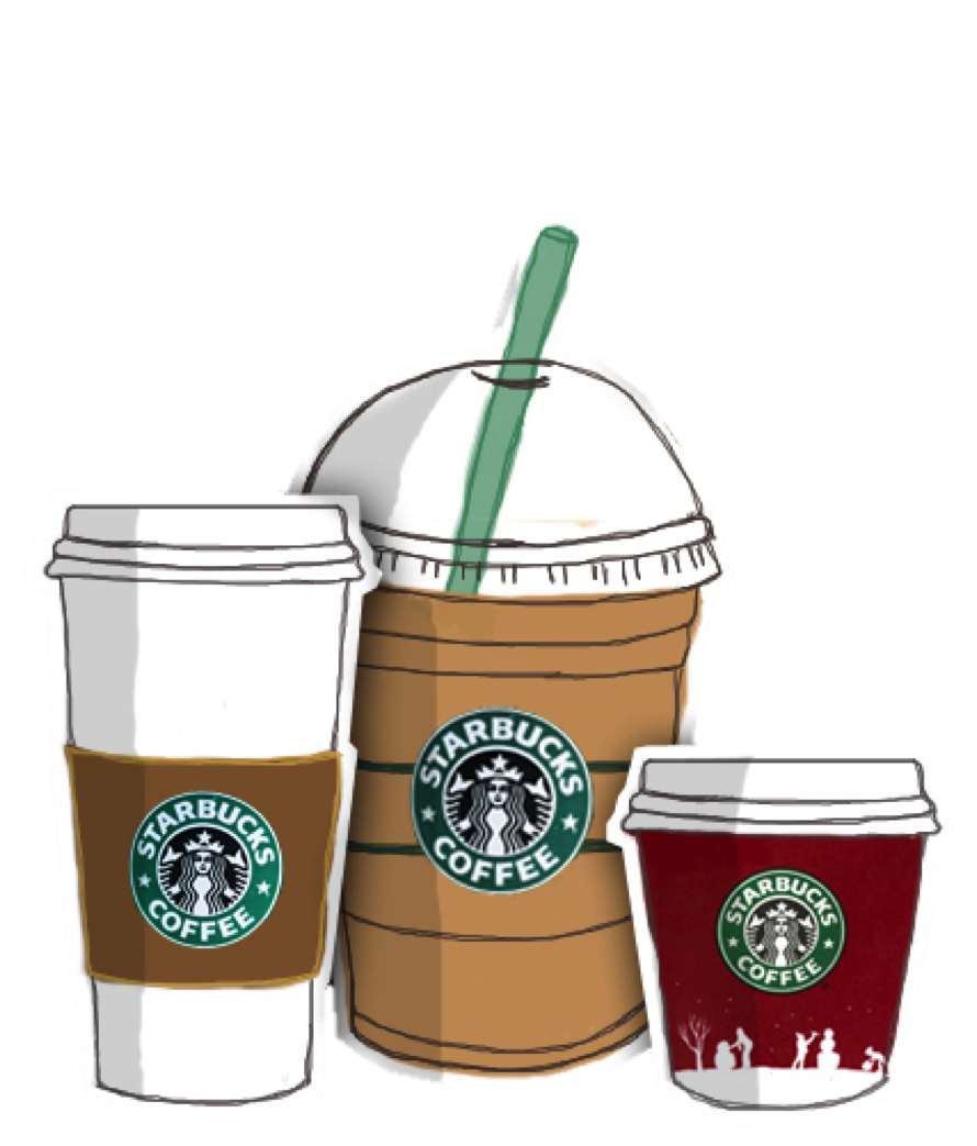 Starbucks Coffee Drawing Frappuccino - starbucks png download - 890*1043 - Free Transparent ...