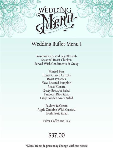 1000  ideas about Wedding Buffet Menu on Pinterest