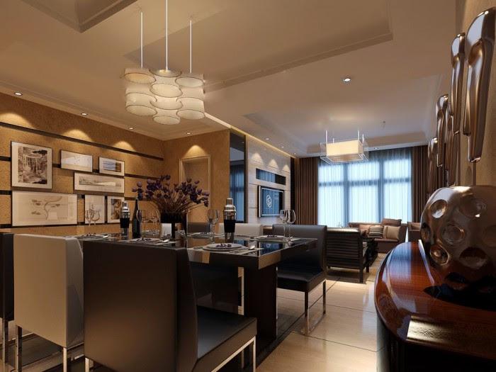 flat screen luxury angular dining lightbox china