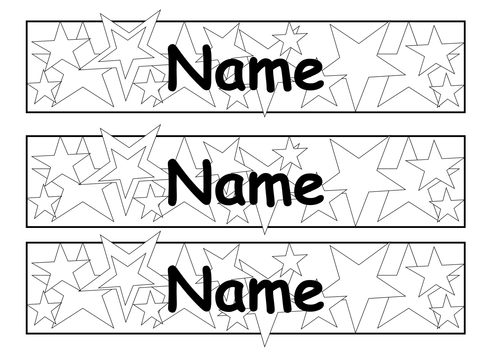 Editable star tray label, colouring in by vzross - Teaching ...