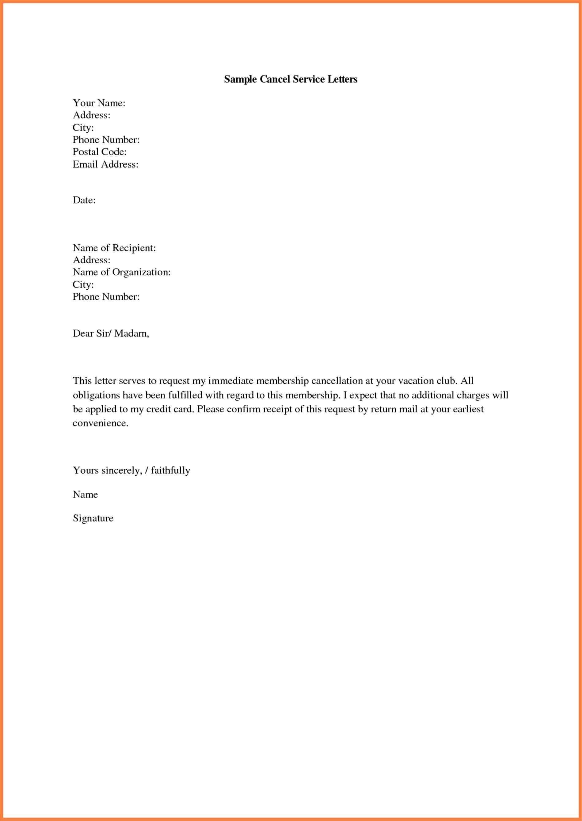 Gym Membership Cancellation Letter Examples - Daily Roabox ...