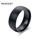 Meaeguet Fashion Men's Black Titanium Ring Matte Finished