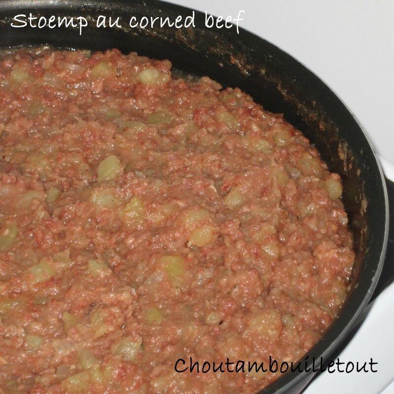 Stoemp au corned beef