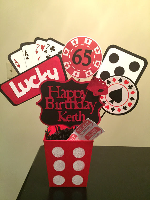 Casino Party Centerpieces Birthday Party Centerpieces Decorations
