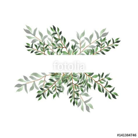 """Abstract green leaf border on white background. Design"