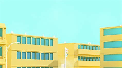 bf school anime illust yellow minimal simple art