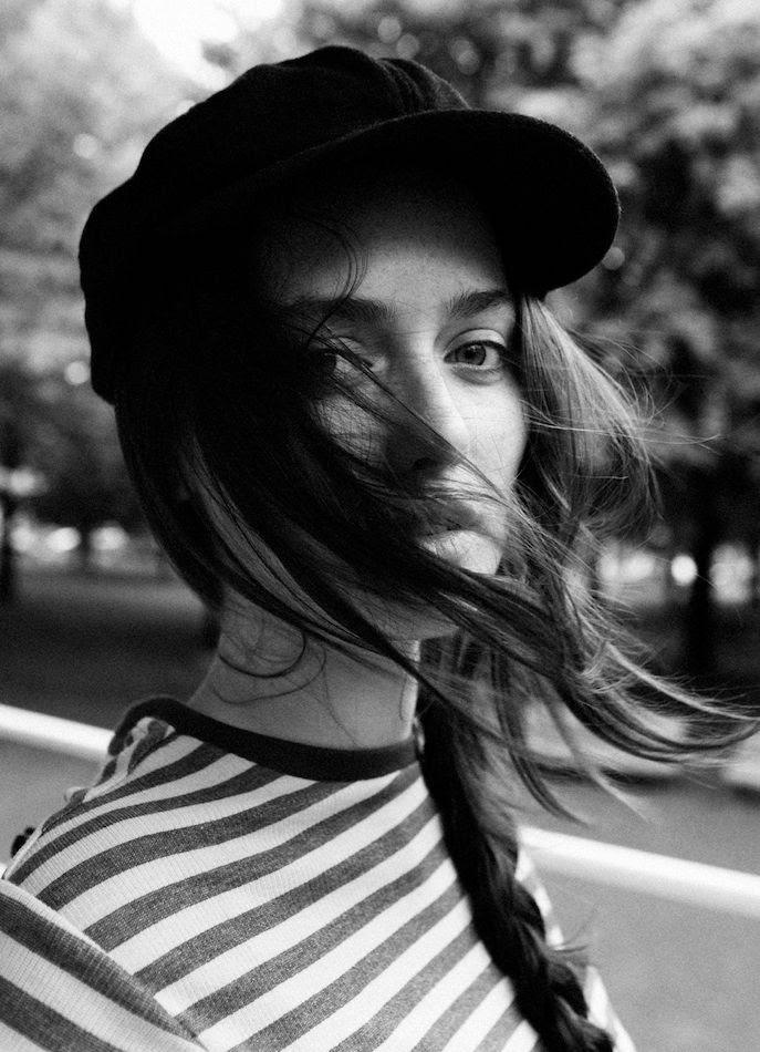 Le Fashion Blog -- Black Hat, Statement Eyebrows, Side Braid & Striped Top -- Casual French Style Inspiration -- Via Stylerain -- photo Le-Fashion-Blog-Black-Hat-Side-Braid-Striped-Top-Casual-French-Style-Via-Stylerain.jpg