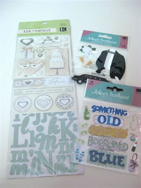 55 best wedding scrapbook stickers images on Pinterest