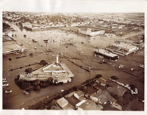 Corner of Rodeo and La Brea, Baldwin Hills Flood - December 14, 1963 by srk1941