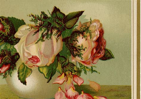 Vintage Drooping Roses Image!   The Graphics Fairy