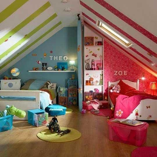 Boy/Girl Twin Bedroom ideas...so cute! | For the Home | Pinterest