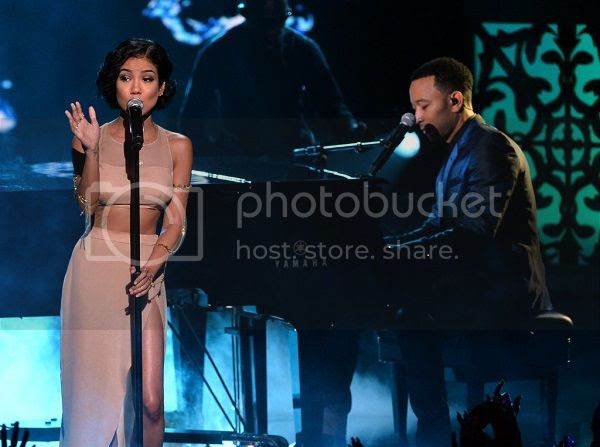 Watch: Jhené Aiko duets with John Legend at BET Awards...
