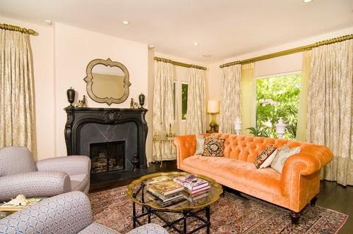 Velvet Chesterfield Sofa - Contemporary - living room