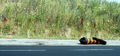 Road barrel, defeated.