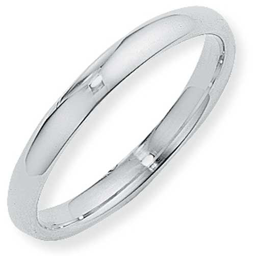 3mm Court Shaped Band Ring Wedding Ring In Platinum platinum wedding bands