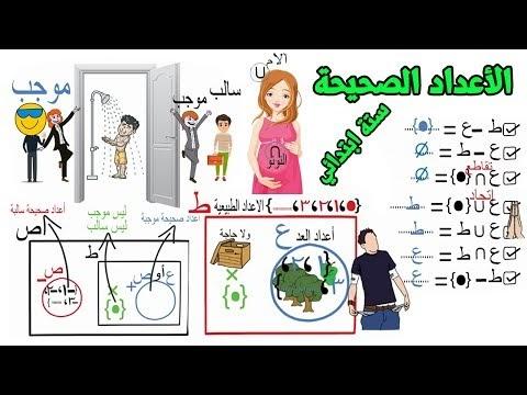مجموعة الاعداد الصحيحة للصف السادس الابتدائي
