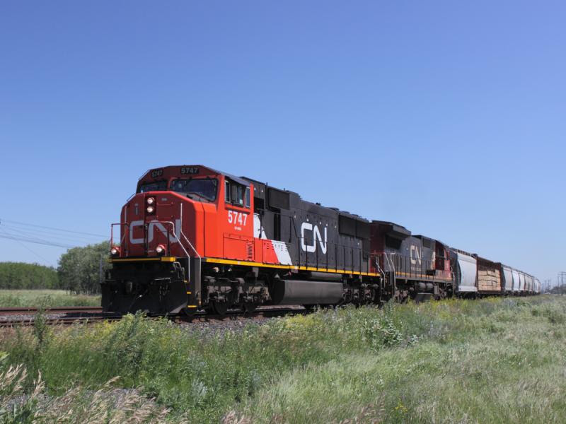 CN 5747 in Winnipeg