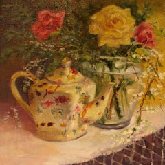 Teapot and Roses