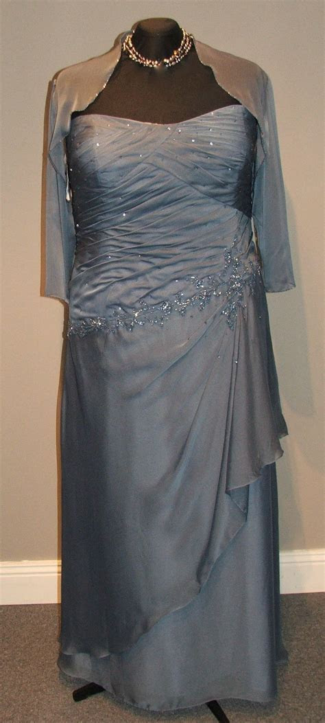 Mother of the groom dress, Steel blue, size 20 Available