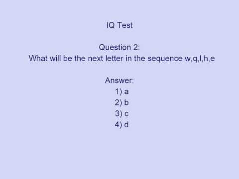 IQ Test MCQ Interview Questions Answers math intelligent general knowledge2 - YouTube