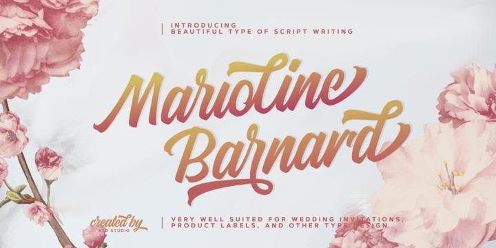 Download Marioline Barnard Font Family From Asd Studio