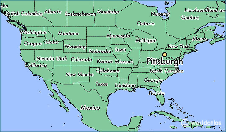 Pittsburgh On The Us Map Pitsburgh On Us Map