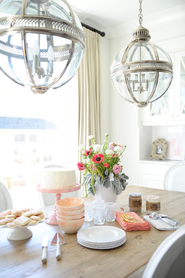 #lantern, #lighting, #dining-room, #pendant-light  Photography: Tracey Ayton - traceyaytonphotography.com  Read More: http://www.stylemepretty.com/living/2014/03/24/the-doctors-closet-home-tour/