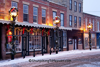 Christmas in Mineral Point, Iowa County, Wisconsin