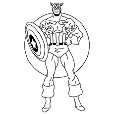 Free Printable Coloring Pages For Kids Avengers Drawing With Crayons