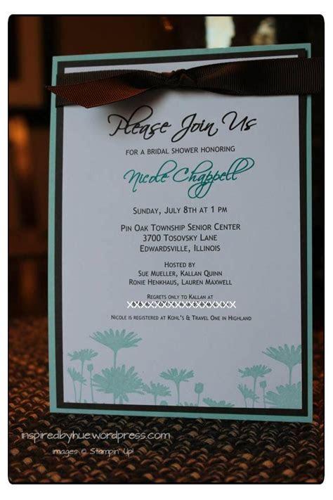 stampin up wedding invitations   Stampin' UP Bridal Shower