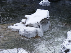 Frozen rock