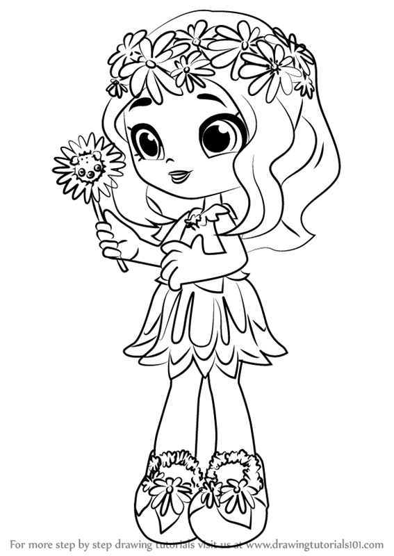 Shopkins Girl From Season 8 Coloring Page Shoppies Group - Coloring And  Drawing