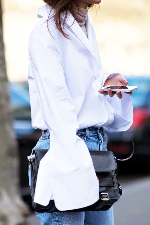 Le Fashion Blog Street Style Bell Flare Sleeve White Acne Shirt Black Proenza Schouler PS11 Bag High Waist Jeans Via Life Of Boheme photo Le-Fashion-Blog-Street-Style-Bell-Flare-Sleeve-White-Acne-Shirt-Black-Proenza-Schouler-PS11-Bag-High-Waist-Jeans-Via-Life-Of-Boheme.jpg