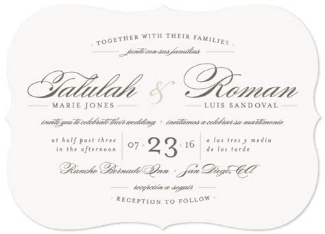 wedding invitations love language  mintedcom