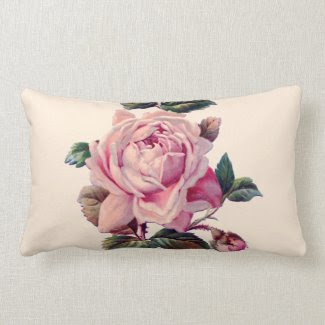 Vintage Beautiful Pink Rose Pillows