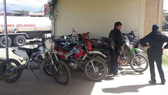 Delincuentes robaban motos en Tarija y los llevaban a Villazón