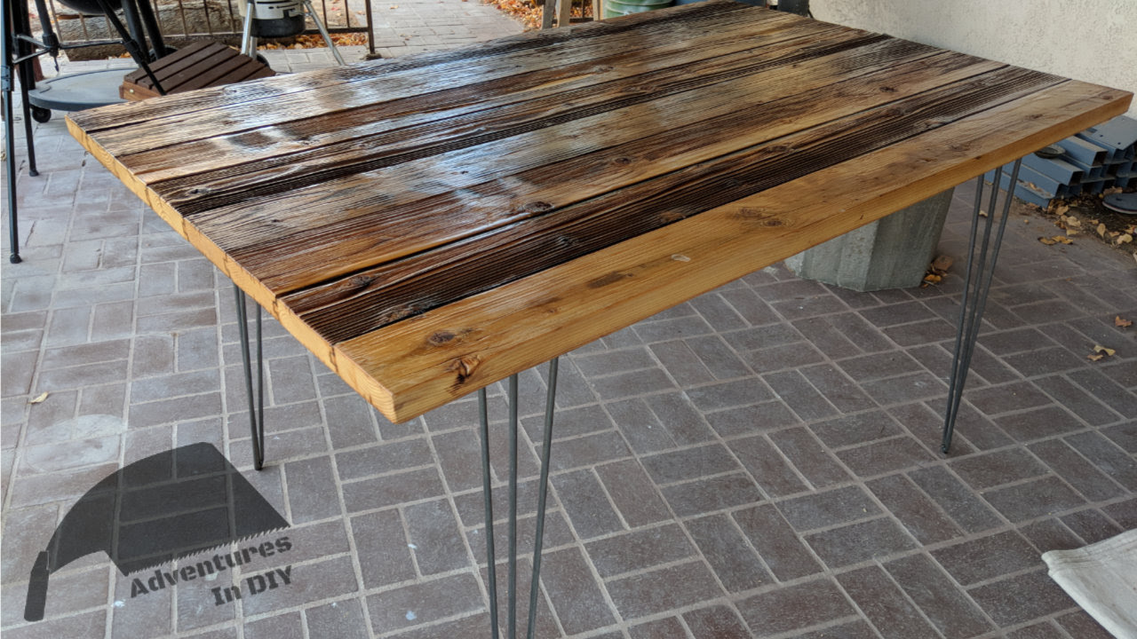 Hairpin Leg Reclaimed Wood Kitchen Table \u2013 Adventures In DIY