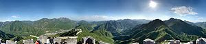The great wall of china panorama, stretching t...