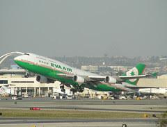 EVA plane takes off