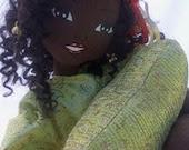 Hand designed, black fashion doll ooak 24 inches