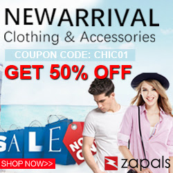 New Arrival 50% Coupon chic01 for Clothing & Accessories at Zapals