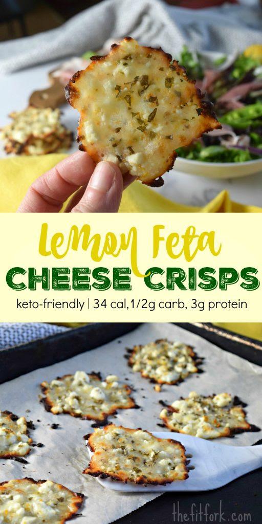 Lemon Feta Cheese Crisps (Frico)