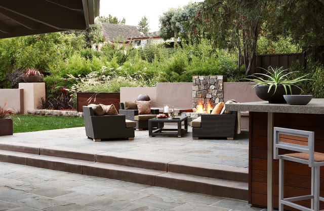 Outdoor Living Room - Contemporary - Patio - other metro ...