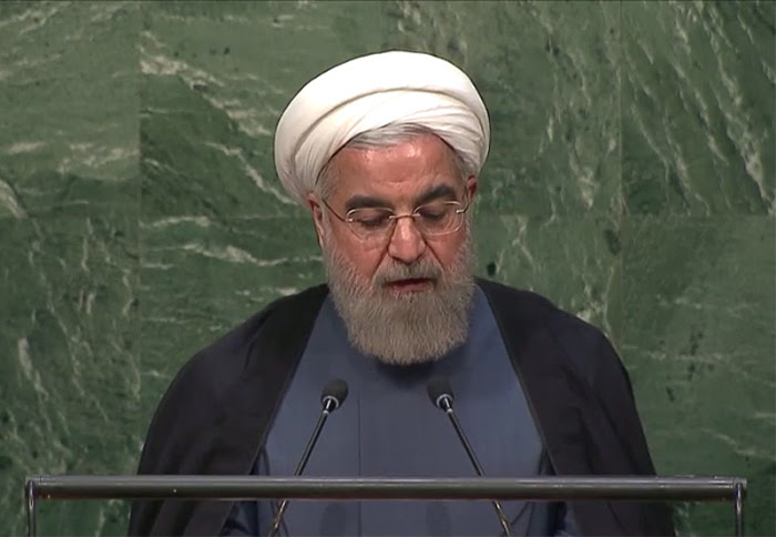Iranian President Hassan Rouhani at the UN