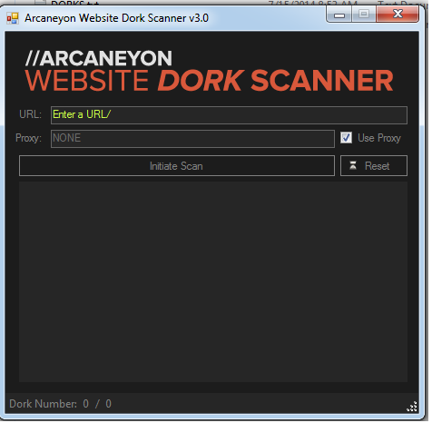 Arcaneyon Website Dork Scanner v3.0 2019